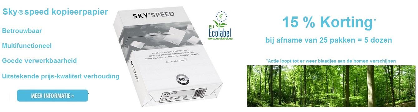 Sky speed kopieerpapier 15% korting