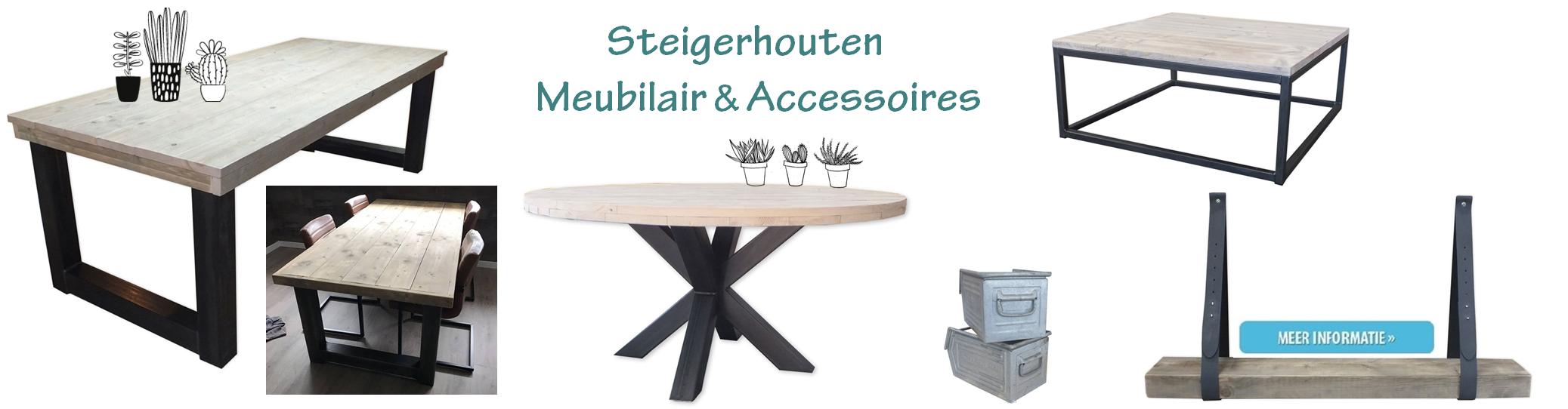 Steigerhouten meubilair 7 accessoires